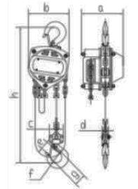 Talhas manuais de corrente Elevar compacta - EC - 0.5t, 1t e 2t